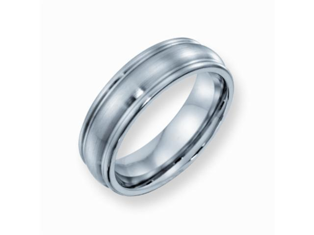Cobalt Chromium Satin Finish 7mm Comfort Fit Wedding Band Ring (SIZE 9.5 )