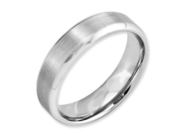 Eternal Bond - Cobalt 6mm Comfort Fit Men's Wedding Band with Satin Center Featuring High Polished Beveled Cut Sides