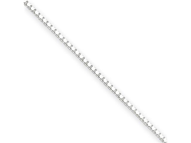 18 Inch Sterling Silver 1.25mm Box Chain