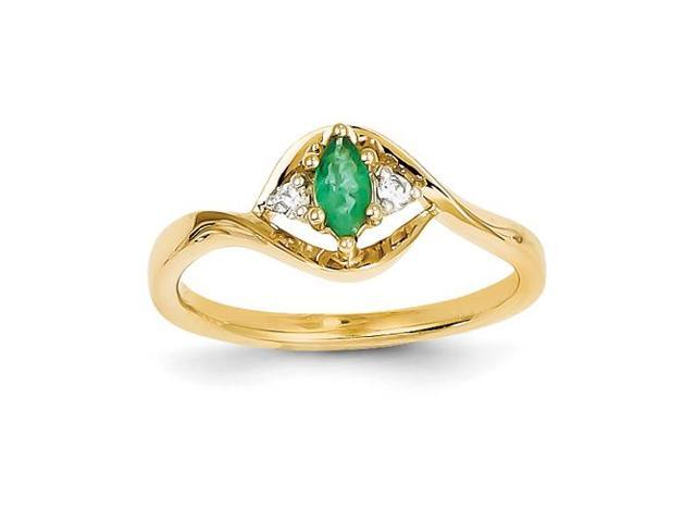 14k yellow gold emerald ring newegg