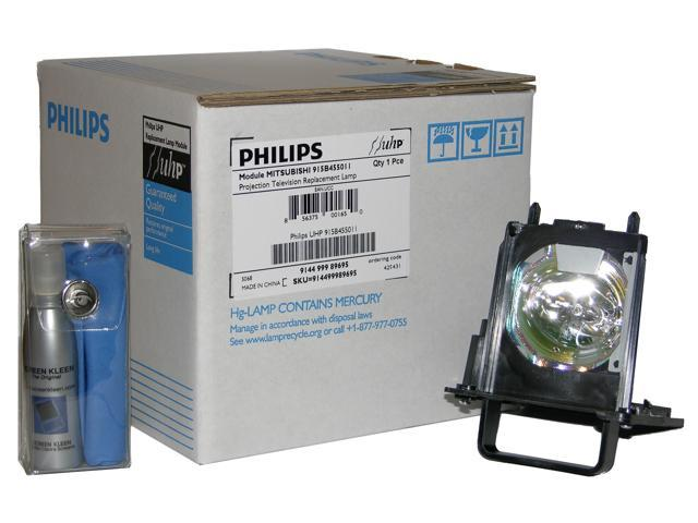 Original Philips Rear Projection Replacement Lamp/Bulb/Housing For  Mitsubishi 915B455012. Included At