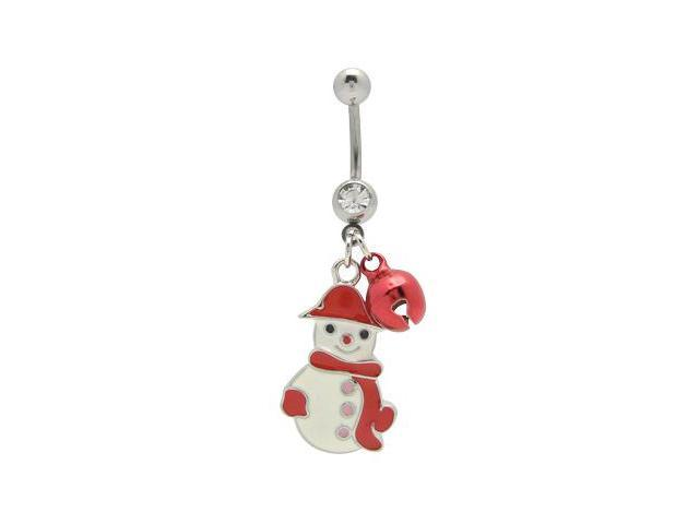 Jingle and Snowman Belly Button Ring