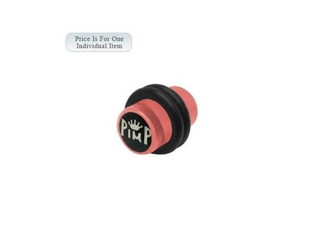 2 Gauge Pimp Logo Acrylic Pink Ear Plug