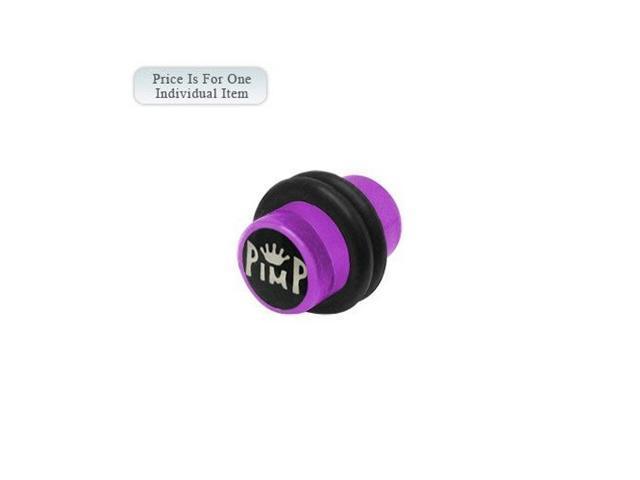 2 Gauge Pimp Logo Acrylic Purple Ear Plug