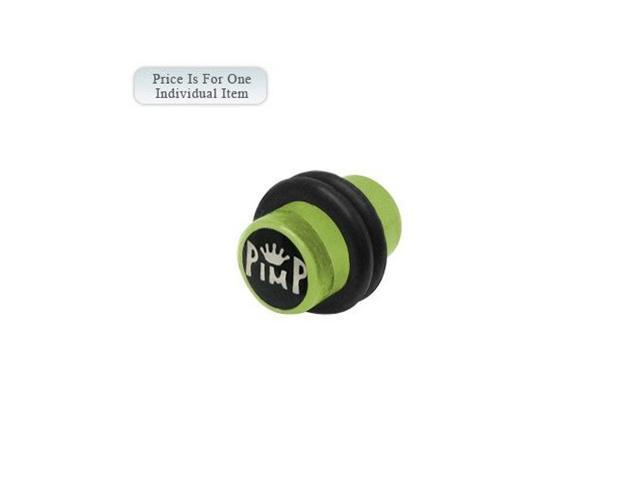 2 Gauge Pimp Logo Acrylic Green Ear Plug