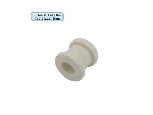 0 Gauge White Acrylic Ear Plug