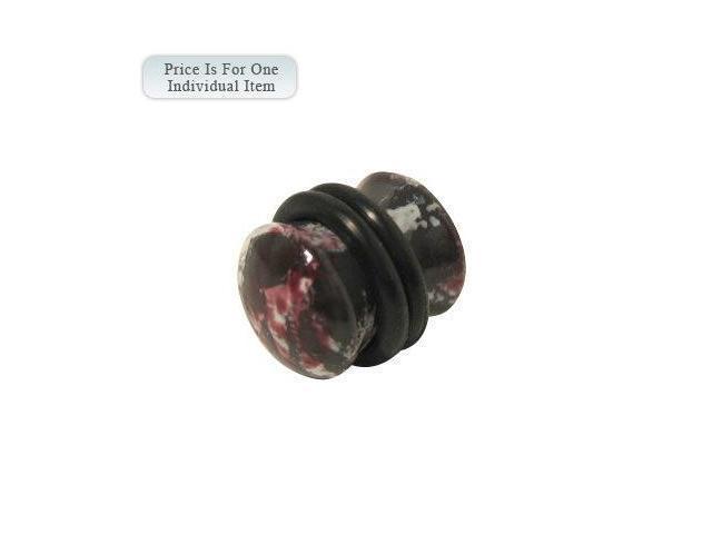 Multi Color Paint Style Acrylic Ear Plug - 0 Gauge