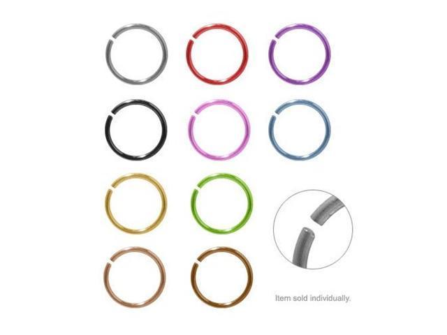 Anodized Titanium Nose Hoop Rings (Purple Titanium)