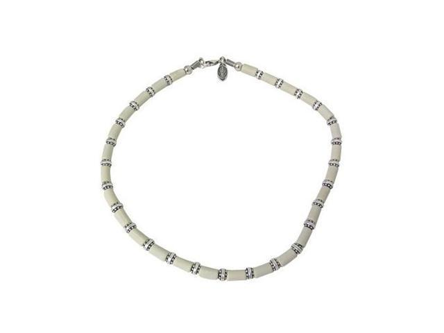 Silver Plated Necklace with Mix Beads