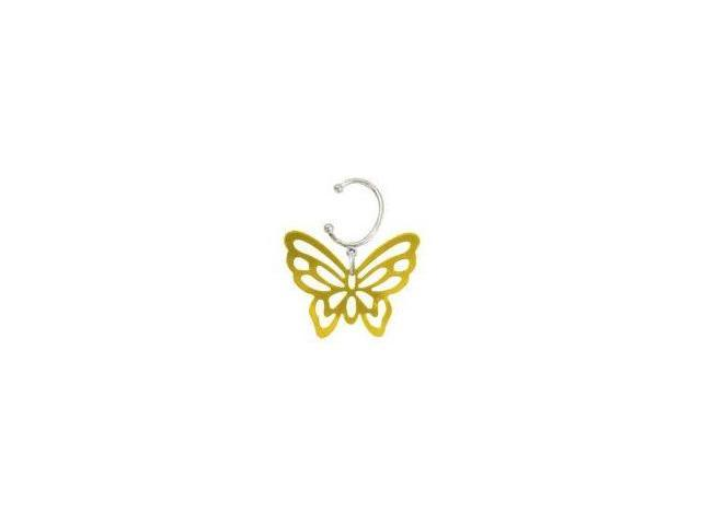 Dangling Butterfly Belly Button Clip Non-Piercing
