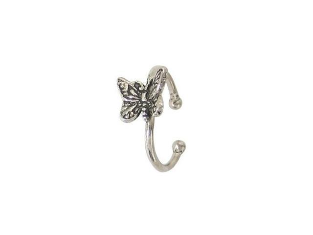 Butterfly Belly Button Clip Sterling Silver Non-Piercing