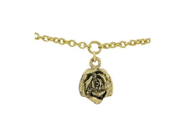 14k Gold Plated Belly Button Chain with Flower Charm
