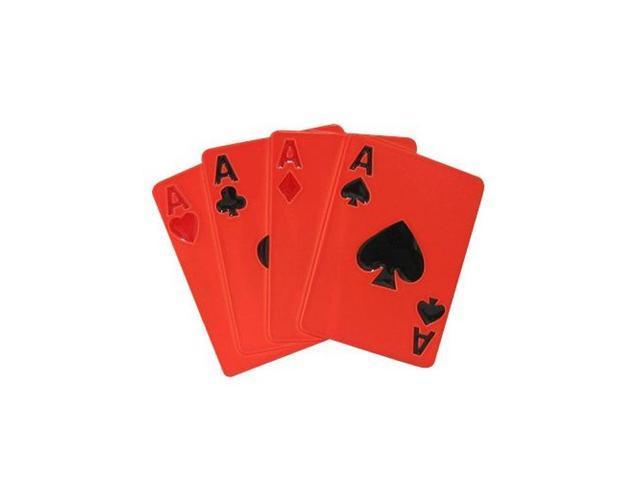 Neon Orange Uv Anodized Playing Cards Belt Buckle