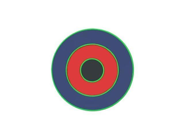 Neon Colors Uv Anodized Target Belt Buckle