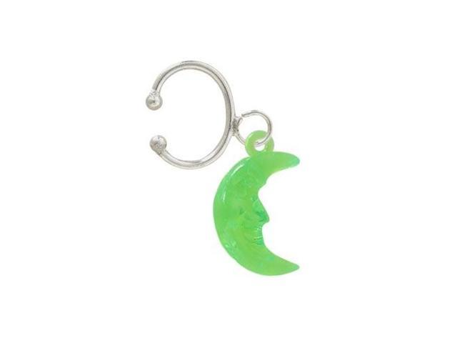 Acrylic Dangle Moon Belly Clip Non-Piercing