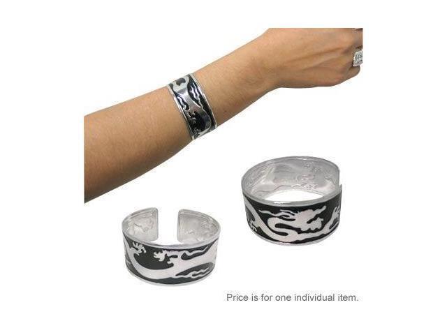 Silver and Black Dragon Bracelet