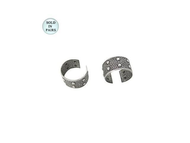 Ear Cuffs Sterling Silver Unique Dot Design