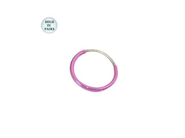 Pink Hoop Earrings (1/2 inch)