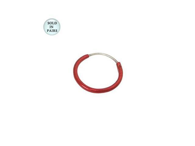 Red Hoop Earrings (1/2 inch)