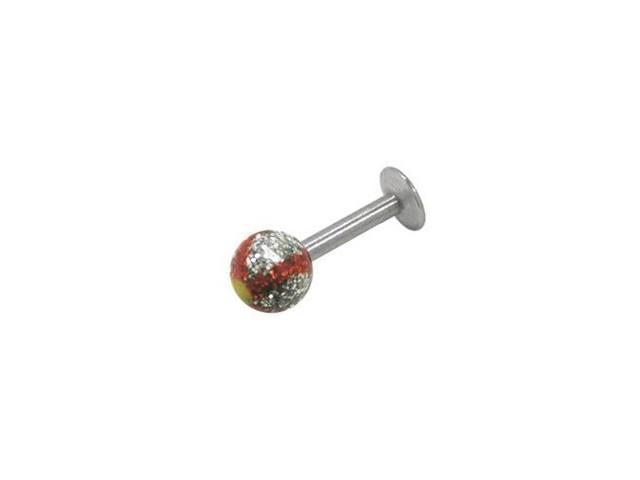 Hand Painted Glitter Ball Bead Labret Monroe