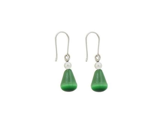 Earrings Sterling Silver with Semi-Precious Stone