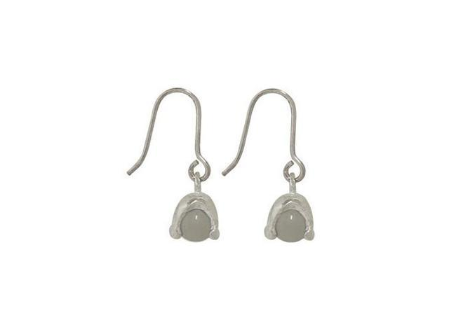 Sterling Silver Earrings with Clear Semi-precious Stone