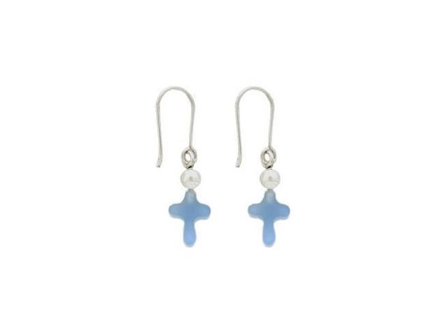 Cross Semi-Precious Stone Earrings