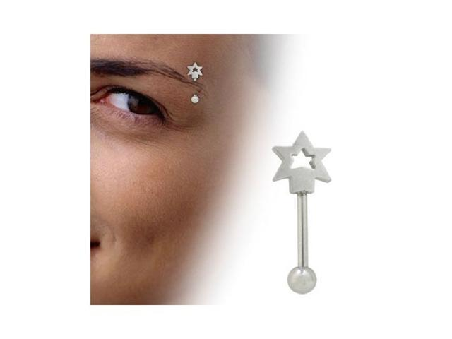 Star Barbell Eyebrow Ring Surgical Steel