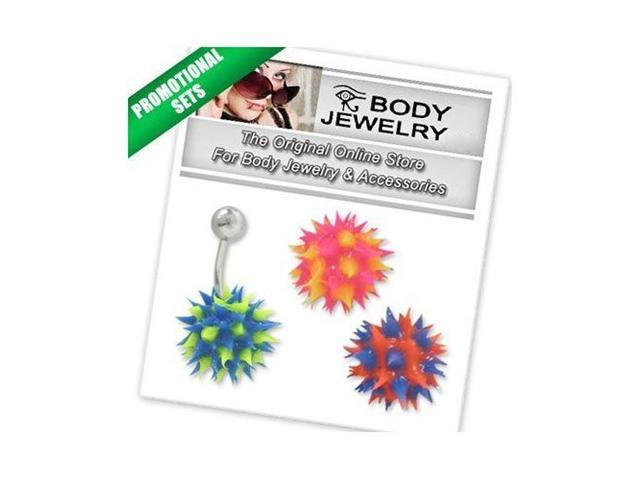 Belly Button Ring Surgical Steel with Silicone Ball - BONUS30