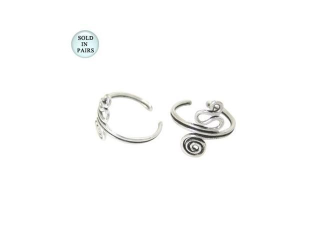 Sterling Silver Unique Design Ear Cuffs