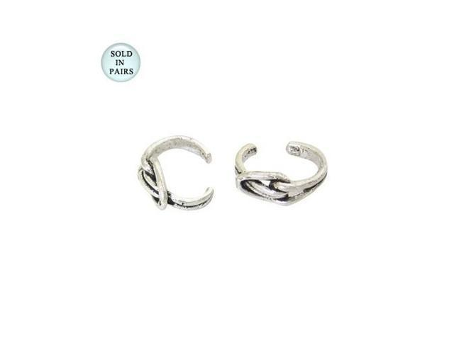 Abstract Design Sterling Silver Ear Cuffs