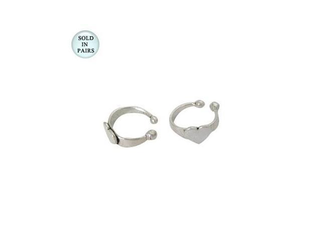 Sterling Silver Heart Ear Cuffs
