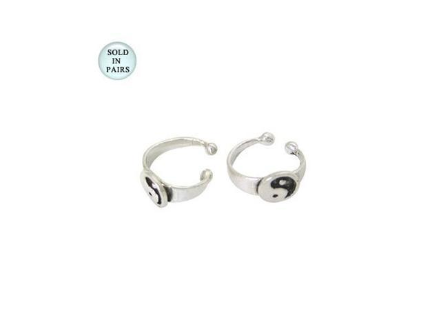 Ear Cuffs Sterling Silver, Ying Yang Logo Design