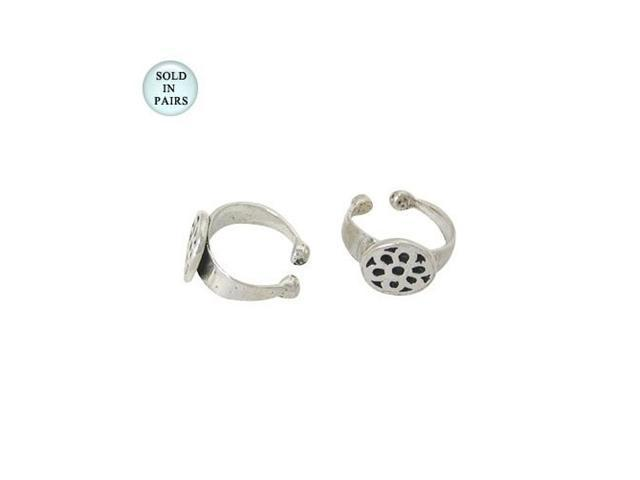 Sterling Silver Flower Ear Cuffs