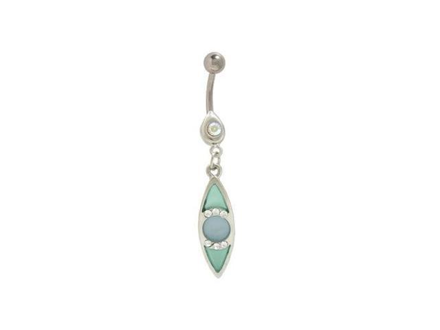 Dangler Blue Pastel Eye Belly Button Ring