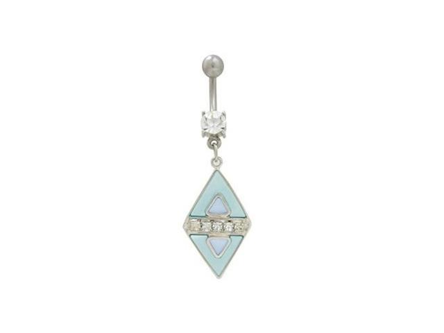 Dangler Blue Pastel Belly Button Ring