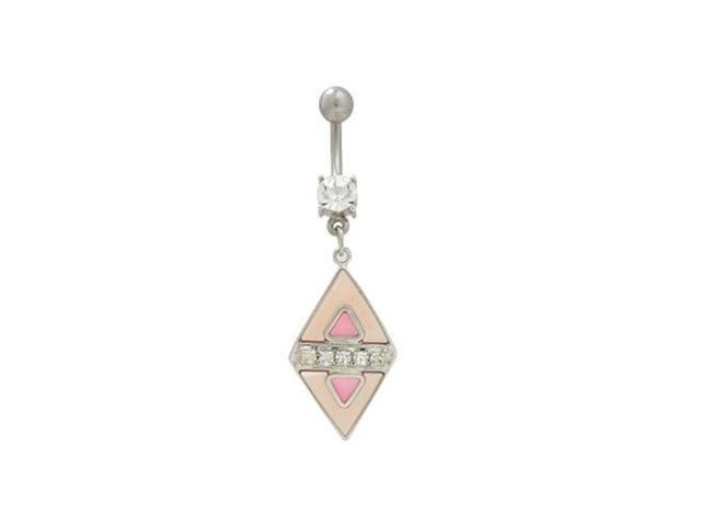 Dangler Pink Pastel Belly Button Ring
