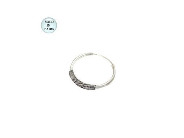 Sterling Silver Hoop Earrings (16mm)