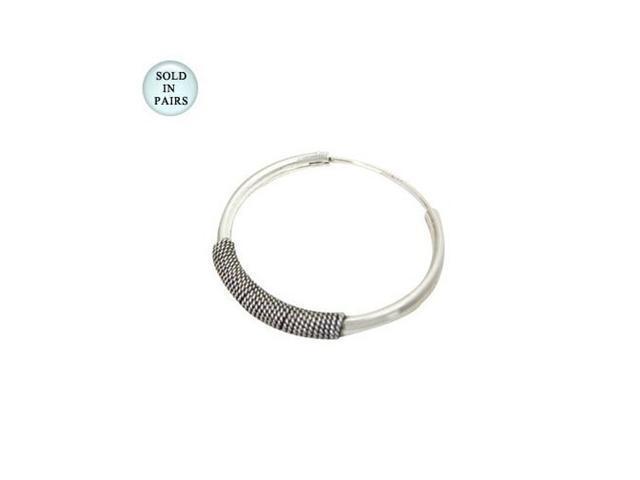 Sterling Silver Hoop Earrings (25mm)