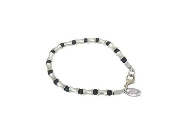 Silver Plated Bracelet with Mix Beads