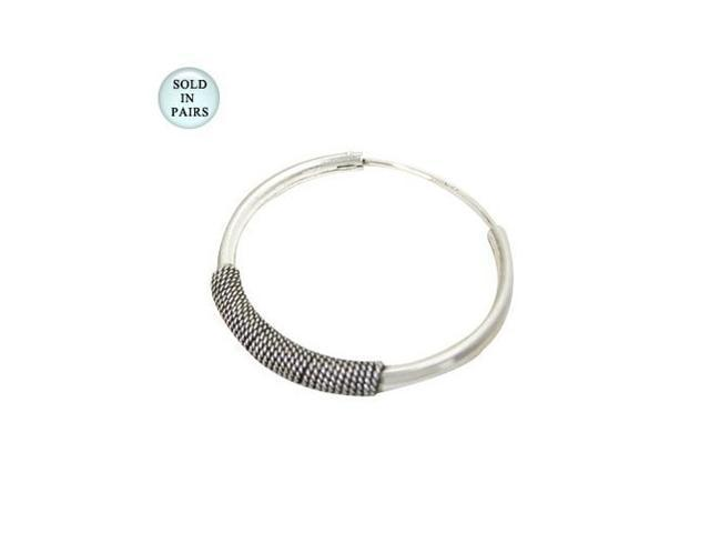 Sterling Silver Hoop Earrings (33mm)