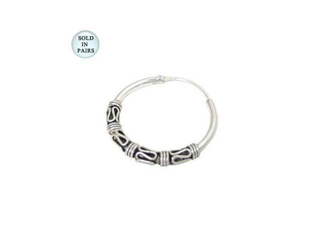 Hoop Earrings Sterling Silver (22mm)