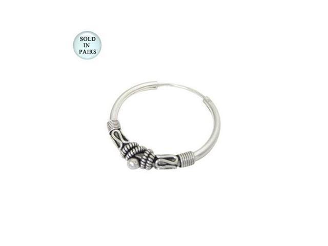 Hoop Earrings Sterling Silver (25mm)