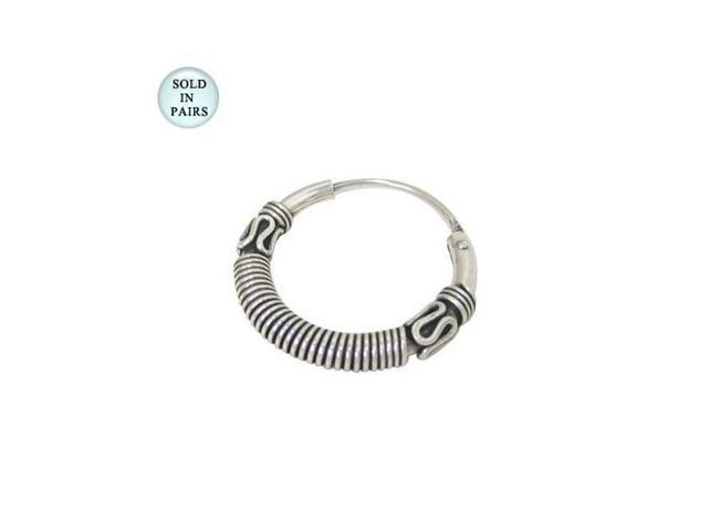 Sterling Silver Hoop Earrings (15mm)