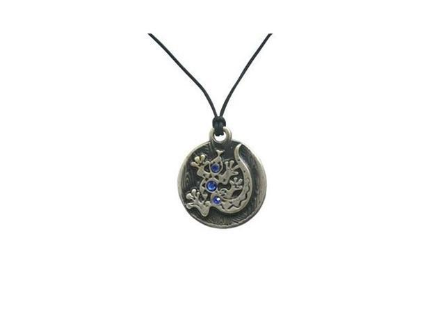 Protection Salamander Pendant Necklace with Cz Jewels