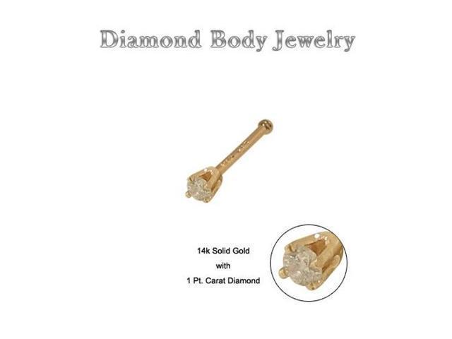 Genuine Diamond 14k Solid Gold Nose Bone