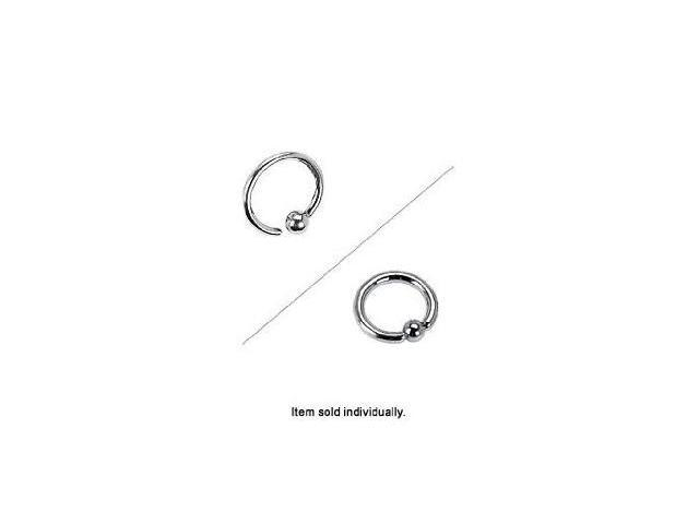 Surgical Steel One Side Fixed Ball Captive Bead Ring - 16g - 6mm