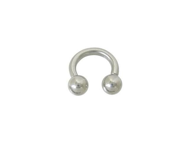 Horse Shoe Ring Surgical Steel (14G - 1/4 Inch)