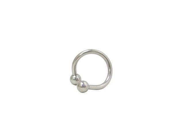 Surgical Steel Twister Ring with Ball Beads 14 Gauge 12mm