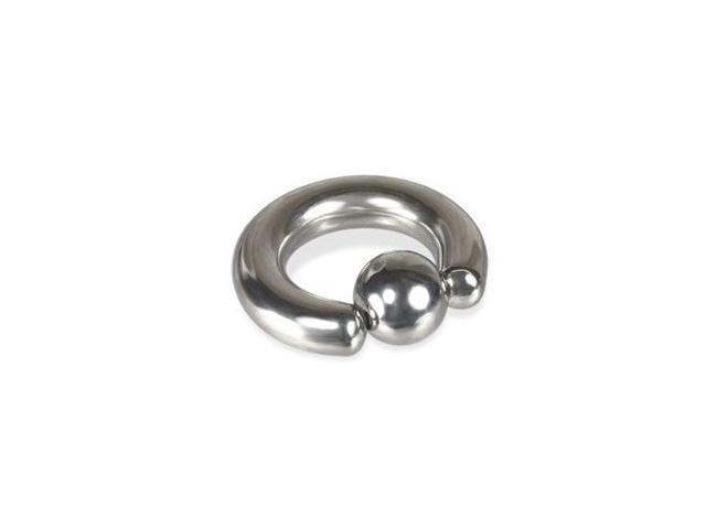 Large Gauge Surgical Steel Captive Bead Ring - 00G 22mm